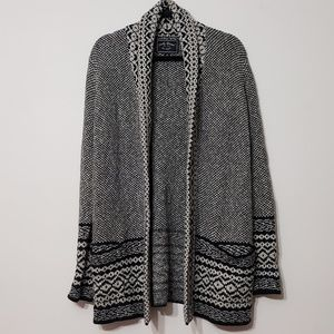 Lucky Brand Open Front Heavy Knit Cardigan, sz M